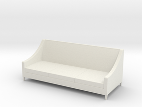 1:24 Simple Sofa in White Natural Versatile Plastic