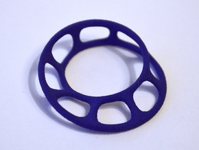 Wired Möbius Strip in Blue Processed Versatile Plastic