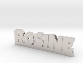 ROSINE Lucky in Rhodium Plated Brass