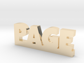 PAGE Lucky in 14k Gold Plated Brass