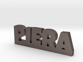 PIERA Lucky in Polished Bronzed Silver Steel