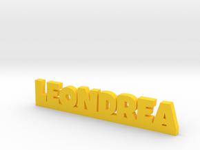LEONDREA Lucky in Yellow Processed Versatile Plastic