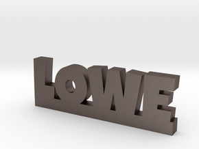 LOWE Lucky in Polished Bronzed Silver Steel
