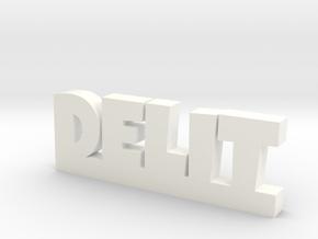 DELIT Lucky in White Processed Versatile Plastic