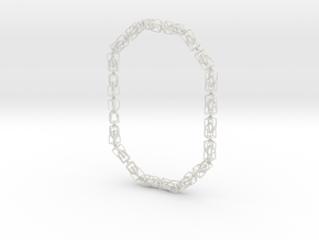 40 Houses Necklace in White Natural Versatile Plastic