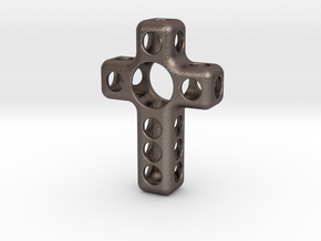 Croce Fusion in Polished Bronzed Silver Steel