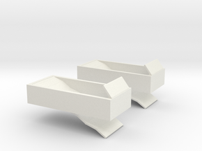 3d 2707 Center Air Brake in White Natural Versatile Plastic