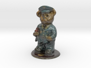 Police Bear in Glossy Full Color Sandstone