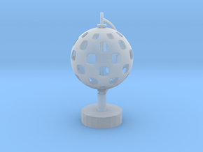Standing Sphere in Smooth Fine Detail Plastic