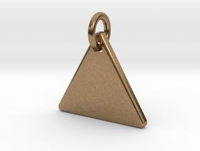 Triangle Nickel Size Pendant in Natural Brass (Interlocking Parts)