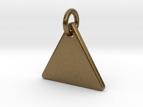 Triangle Nickel Size Pendant in Natural Bronze (Interlocking Parts)
