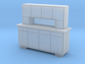H0 Cupboard 4 Doors - 1:87 in Smooth Fine Detail Plastic