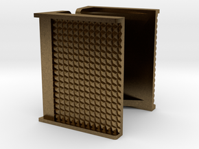 "1"" scale Boiler Step, Square Pattern in Natural Bronze"