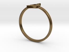 Neda Symbol Ring - US Size 4 in Polished Bronze