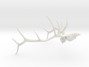 Bull Elk (John Bishop) in White Natural Versatile Plastic