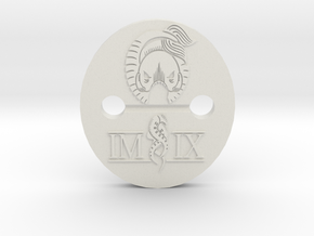 IMIX button1 in White Natural Versatile Plastic