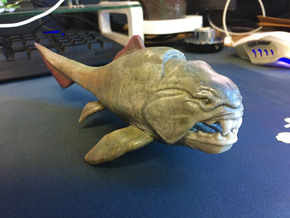 Dunkleosteus middle size(color) in Glossy Full Color Sandstone