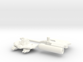 TR: Carrier Kit for Broadside/Tidalwave in White Processed Versatile Plastic