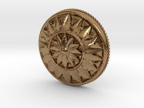 MultiFlower Pendant  in Natural Brass