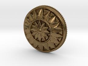 MultiFlower Pendant  in Natural Bronze