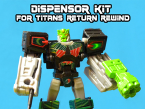 Dewbot/Dispensor 2-Pack for Titans Return Rewind in White Natural Versatile Plastic