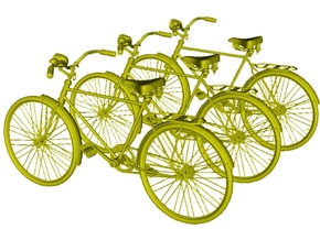 1/24 scale WWII Wehrmacht M30 bicycles x 3 in Smooth Fine Detail Plastic