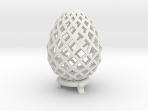 Pane Easter Egg in White Natural Versatile Plastic