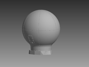 Large Satellite Dome 1/72 in Smooth Fine Detail Plastic