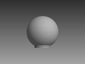 Small Satellite Dome 1/96 in Smooth Fine Detail Plastic
