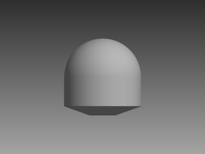 Tapered Satellite Dome 1/96 in Smooth Fine Detail Plastic
