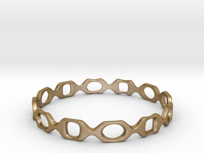 Bracelet D 2 Medium in Polished Gold Steel