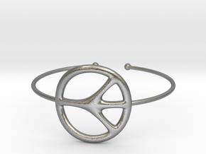 Peace Bracelet in Natural Silver