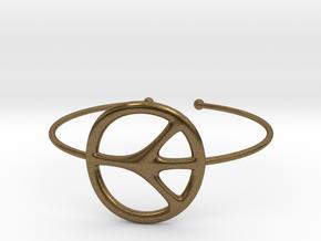 Peace Bracelet in Natural Bronze