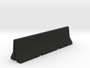 concrete jersey barrier 1/6 scale in Black Natural Versatile Plastic