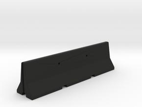 concrete jersey barrier 1/6 scale in Black Natural Versatile Plastic