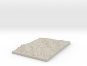 Model of Marsh Valley in Natural Sandstone