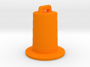Traffic Barrel, Standard in Orange Strong & Flexible Polished: 1:64 - S