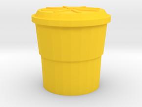 Highway Shock Absorbing Crash Barrel, Standard in Yellow Processed Versatile Plastic: 1:64 - S