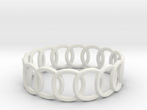 Interloop Band (Olympic Ring) in White Natural Versatile Plastic