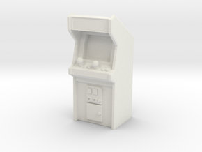 Arcade Machine (Plastic/Metal), 35mm in White Strong & Flexible