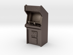 Arcade Machine (Plastic/Metal), 35mm in Polished Bronzed Silver Steel