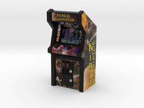 Ninja Gladiator Arcade Game, 35mm Scale in Full Color Sandstone