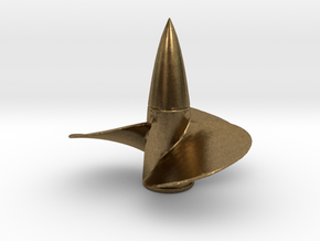1/96 Bismarck propeller Left Rotation in Natural Bronze