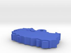 Abyssinian Guinea Mini Charm in Blue Processed Versatile Plastic