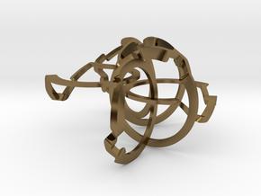 Loopy Six Metal in Polished Bronze (Interlocking Parts)