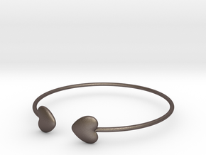 Everything heart bracelet in Polished Bronzed Silver Steel