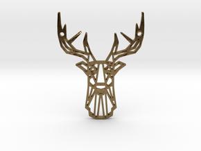 Deer Pendant in Polished Bronze