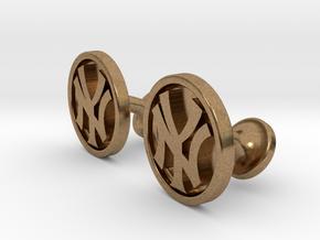 Yankees Cufflinks in Natural Brass