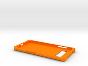 Samsung Galaxy J3 Case in Orange Processed Versatile Plastic