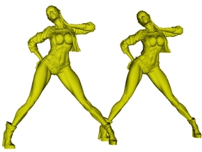 1/35 scale nose-art striptease dancer figure B x 2 in Smooth Fine Detail Plastic